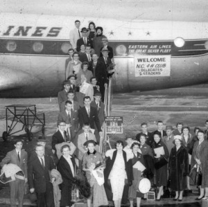 North Carolina 1956 4-H delegates and leaders