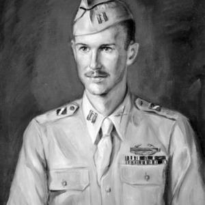 Churchill Bragaw painted portrait