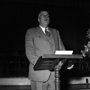 E. Y. Floyd speaking at Foundation Meeting