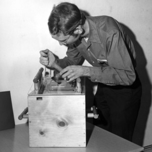 George Lasley with device