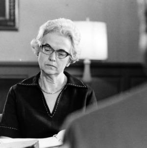 Chancellor John T. Caldwell's secretary Helen Mann