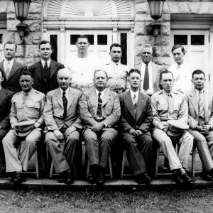 Faculty and Administration of the 334th Army Air Force College Training Detachment group portrait