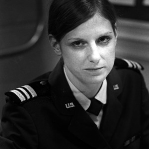 Air Force ROTC group commander Evelyn Spence