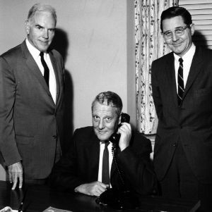 John Caldwell, Dr. Stanley G. Stephens, and William Friday