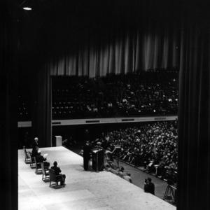 Adlai Stevenson at Reynolds Coliseum, Harrelson Lecture