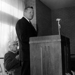 William Lybrook at Faculty Club dedication