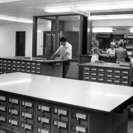 D. H. Hill Library, card catalogs