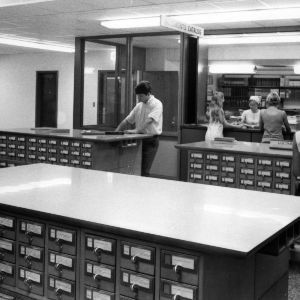 D. H. Hill Jr. Library, card catalogs