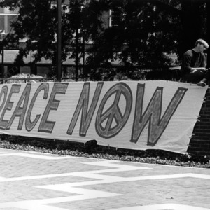 Peace sign on campus