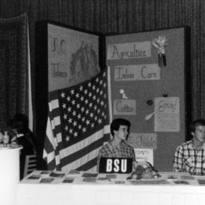 Baptist Student Union with an agricultural display