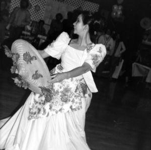 Student performing a cultural dance