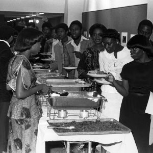Buffet line at Pan African Festival