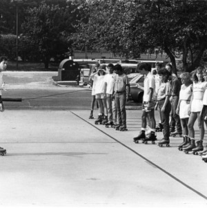 Roller-skating class