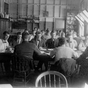 Students in the classroom, circa 1890s