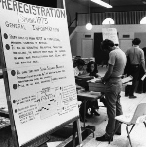 Pre-registration for Spring 1973 classes