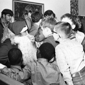 Christmas party for blind children