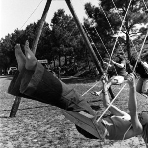 Students on swings