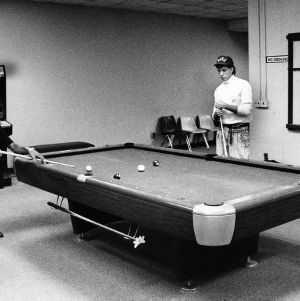 Playing pool in the Talley Student Center