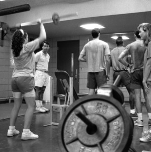 Weight lifting class at Carmichael Gym
