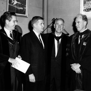 Key figures in North Carolina State 1961 commencement