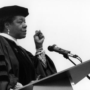 Maya Angelou, 1990 commencement speaker