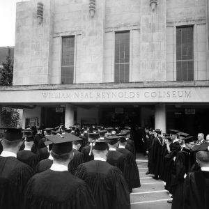 Graduation in Reynolds Coliseum
