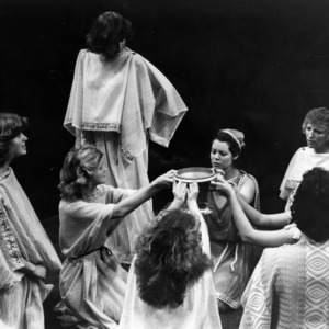 Scene from the play Lysistrata