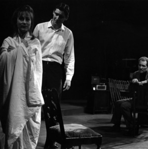 Actors performing scene from play