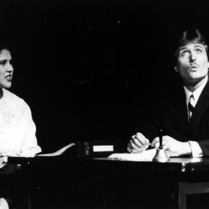 Scene from the play Beyond the Fringe
