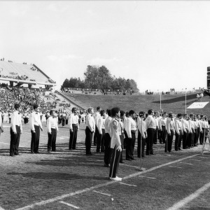 Performance at football game