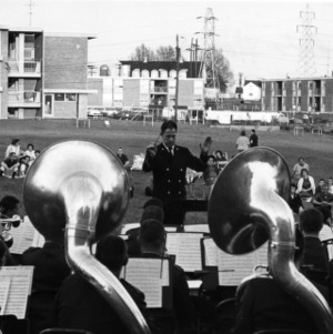 Band concert near married students housing