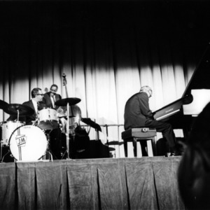 Dave Brubeck Jazz Quartet performing at Reynolds Colosseum, as part of the New Arts performance series