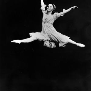 Ballerina soaring high