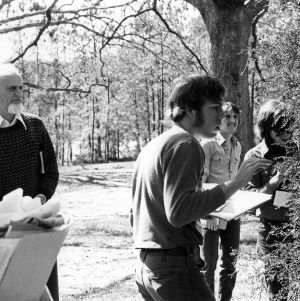Design students observing nature
