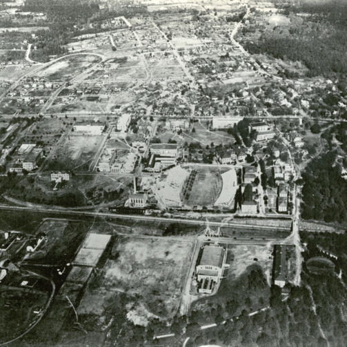 Aerial view of North Carolina State University