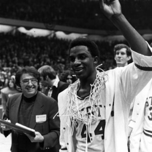 David Thompson after a North Carolina State University Victory
