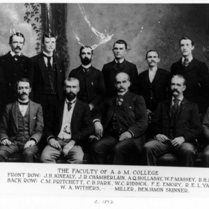 Faculty of North Carolina College of Agriculture and Mechanic Arts group photo, 1892