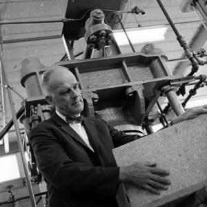 Richard J. Preston in lab