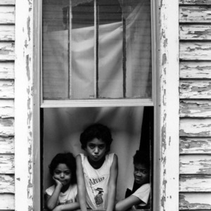 Children in window