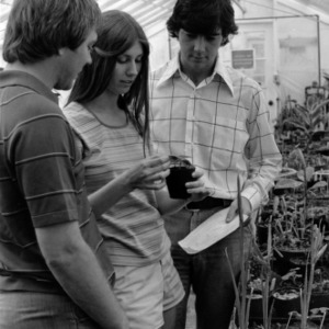 Horticulture class in greenhouse