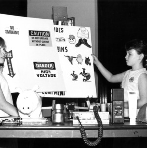 Girls with award-winning presentation on safety