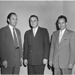 Dr. J. Bryant Kirkland, G. Carlton Alexander, and Dr. D. J. Moffie