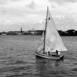 Morehead City Technical Institute students sailing in Bogue Sound