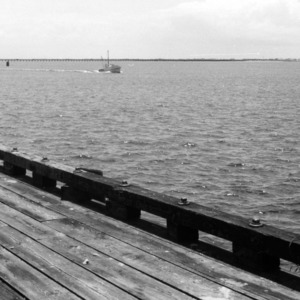 Bogue Sound from the dock of the Morehead City Technical Institute
