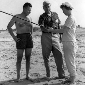 Group fishing on beach