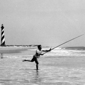 Fishing on Cape Hatteras beach