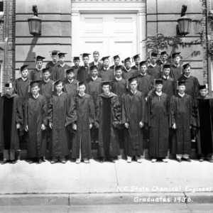 Chemical Engineering class at commencement