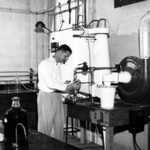 Dr. F. P. Pike in lab