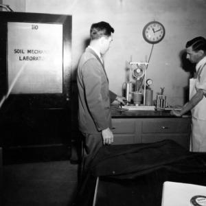 Researchers in Soil Mechanics Laboratory
