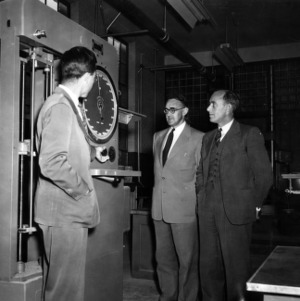 British engineers visiting Physical Testing Laboratory